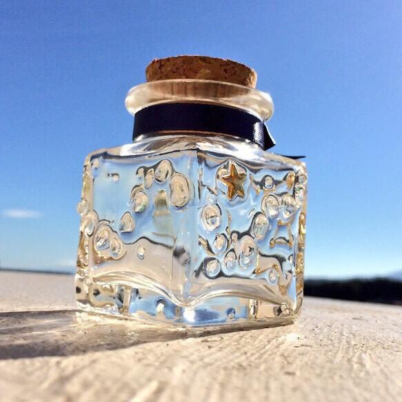 星座のオーロラ小瓶