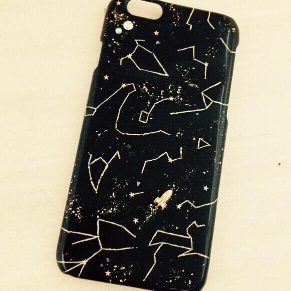 プラネタリウム 星座とロケットなiPhone6ケース