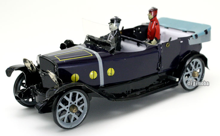 アンティーク・ブリキおもちゃ/クラッシックカー/ブラック